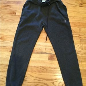 Ralph Lauren men's sweatpants fleece inside gray